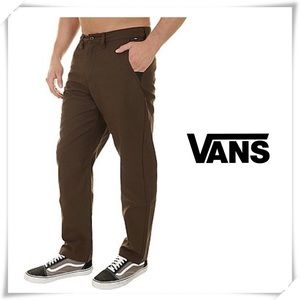 NWOT Vans Authentic Chino Glide Pants Brown